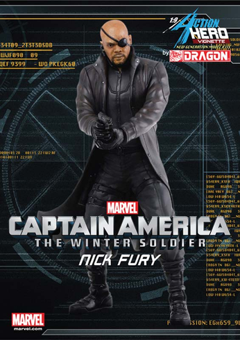 Dragon 38107 Models 1/9 Captain America Nick Fury Winter Painted