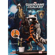 "Dragon 38130S 7"" Guardians of the Galaxy-Rocket Raccoon, w/Groot"