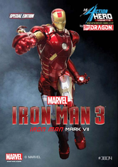 Dragon 38134 Models 1/9 Iron Man 3 Mark VII Action Hero Painted
