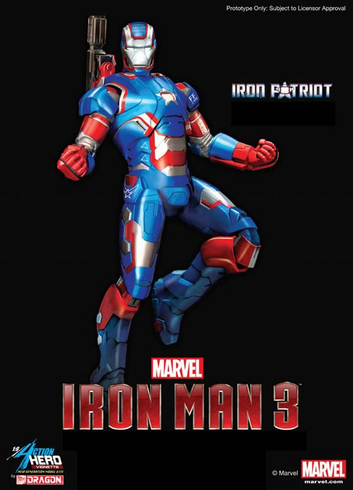 Dragon Models 38114 1/9 Iron Man 3 Iron Patriot Action Painted