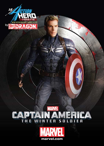 Dragon Models 38128 1/9 Captain America Winter Soldier Painted