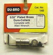 DuBro 140 5 32nd plated brass dura-collars