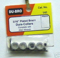 DuBro 141 3/16 plated brass dura-collars