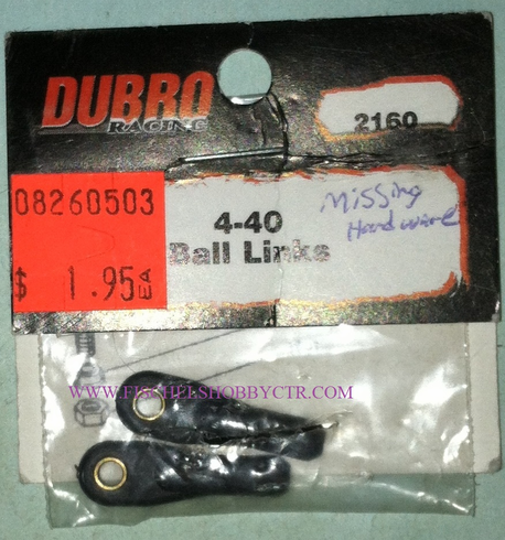 Dubro 2160 4-40 Ball Link missing hardware