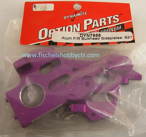 Dynamite 7558 Aluminum Front or Rear Bulkheads for Savage 21, 25 Purple