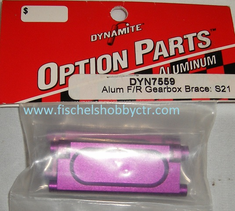 Dynamite 7567 Aluminum F or R Gearbox Brace for Savage 21, 25 Purple