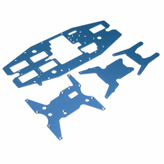 Dynamite DYN7211B Chassis Plate Set, Aluminum, Blue: LST, LST2, AFT
