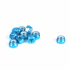 Dynamite DYN8542 3mm Aluminum Lock Nut, Blue (10)