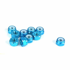 Dynamite DYN8562 4mm Aluminum Lock Nut, Blue (10)