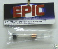 EPIC cross cut sil. serrated dual shunted w/o terminals