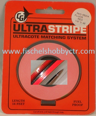 Goldberg 8204 1/8 Flourescent Red Ultra Stripe 48 foot