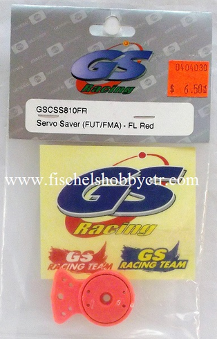 GS Racing GSC-SS810FR Servo Saver (FUT/FMA) - FL Red