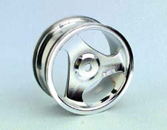 HPI 3602 3-Spoke Whls,Chrome: TAM 4WD