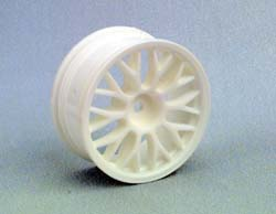 HPI 3715 Mesh Whls,26mm, White,3mm Offset