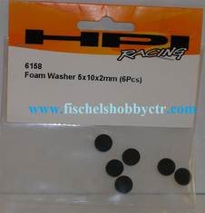 HPI 6158 Foam Washer, 5x10x2mm(6)