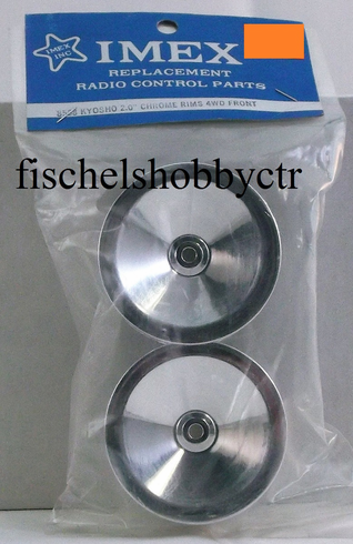 Imex 8568 Kyosho 2.0 Chrome 4WD Front Rims