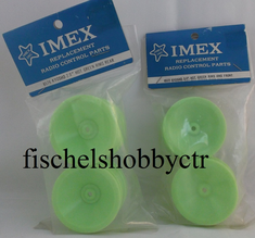 Imex 8576 8577 Kyosho 2.0 Hot Green 4WD Front & rear Rims