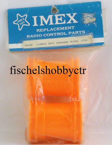 Imex 8648 Tamiya lunchbox orange Front Rims