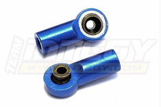 Integy C22727BLUE Metal Ball End (2) 3mm Mounting Hole w/ M6 Thread for Crawler Linkages