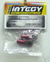 Integy C22727red 3mm metal ball end for Crawler linkage