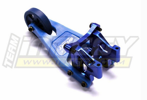 Integy T3246BLUE Evolution-3 Wheelie Bar for Traxxas 1/10 Revo