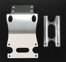Integy T7111S Front Skid Plate Bumper Mount Silver MGT