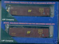 LBF 1102 52' PS-1 Boxcar Wisconcin Central Box Car HO Scale kit