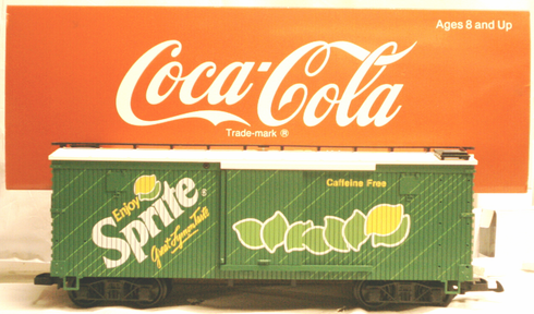 LGB Coca Cola G scale Sprite Box car 4090