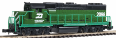 Life-Like 433-7841 Diesel GP38-2 Powered Burlington Northern (Cascade Green) N