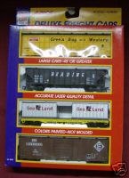 Life-Like Trains Deluxe Freight Cars 4 pack 8404 set 1 HO