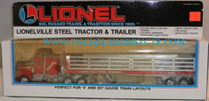 Lionel 6-12786 Lionelville Steel Tractor and trailer with load O scale