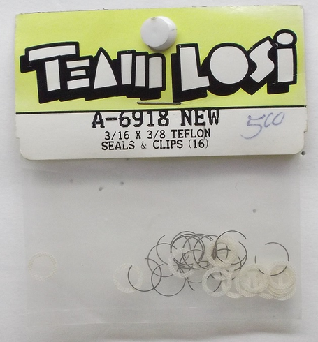 Losi A6918 3/16 X 3/8 Teflon seals and Clips