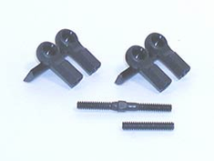 Losi LOSA1615 Short Ball Cups & Threaded Rod (4)