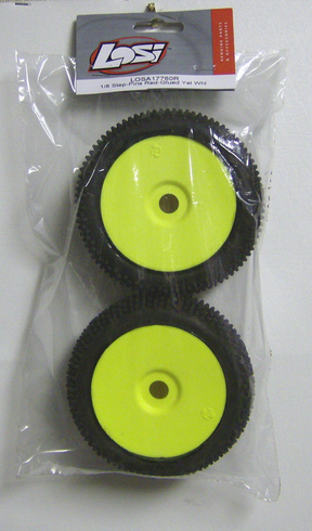 Losi LOSA17760R 1/8 step pins red glued yellow wheel