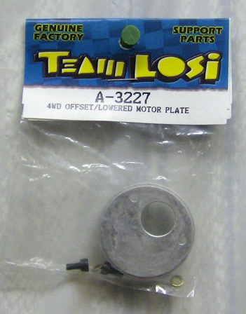 Losi LOSA3227 4WD offset/lowered motor plate
