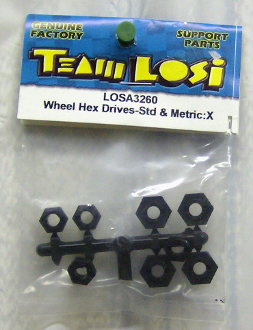 Losi LOSA3260 Wheel Hex drives-std & metric