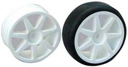Losi LOSA7805 7 Spoke Sedan Wheel White