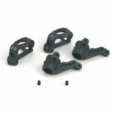Losi LOSA9756 2 degree Front Spindles & Carriers - Graphite