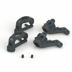 Losi LOSA9758 6 degree Front Spindles & Carriers - Graphite