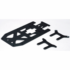 Losi LOSB0900B Upper Chassis Plate Set, Black (3): MLST/2, MRAM