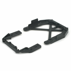 Losi LOSB0905 Front/Rear Upper Chassis Brace Set: MLST/2