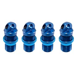 Losi LOSB0959 Shock Body & Adjuster Set, Alum, Blue (4): MLST/2
