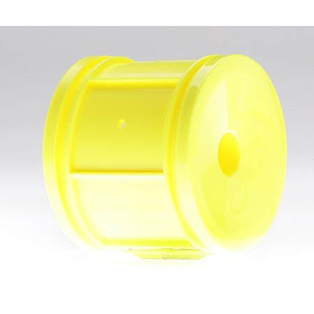 Losi LOSB0978 Dish Wheels, Yellow (Pr): MLST/2