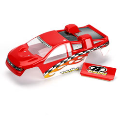 Losi LOSB1003 R/C car Body mini-t  red and white