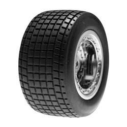 Losi LOSB1169 Front Wheels/Tires Mounted: MLM (2)