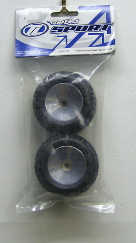 Losi LOSB1176 F mini smashers glued chrome wheels