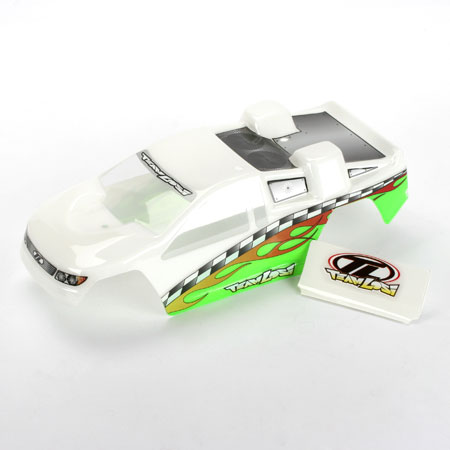 Losi LOSB1356 Painted Body: White Green: Mini-T