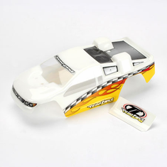 Losi LOSB1354 Painted Body: White/Yellow: Mini-T