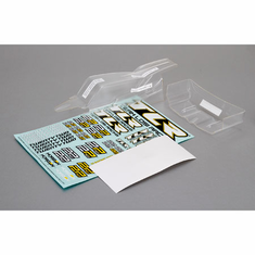 Losi TLR330000 Cab FWD Body & Wing Set, Clear w/Stickers 22 2.0