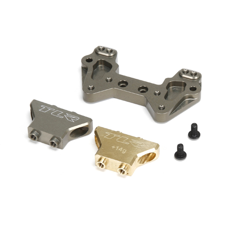 Losi TLR334019 Alum MM Rear Camber Tower Brass/Alum: 22/2.0/T/SCT